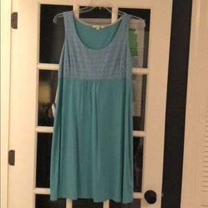 Boden  blue cotton and eyelet dress